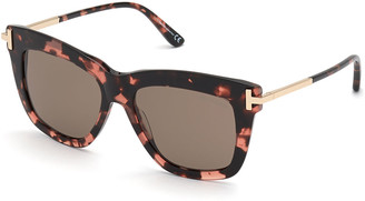 Tom Ford Dasha Oversized Square Acetate Sunglasses