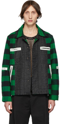 Craig Green Green Plaid Flannel Worker Shirt Jacket