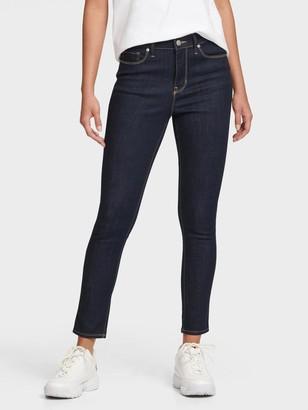 DKNY Women's High-rise Skinny Jeans - Dark Indigo Rinse - Size 24