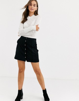Abercrombie & Fitch suede mini skirt-Black