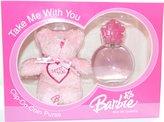 Disney Barbie Gift Set 2pcs.[2.5 Fl. Oz. Eau De Toilette Spray + Teddy Bear]girl