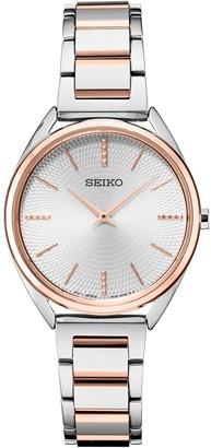 Seiko Women's Stainless Steel Modern Dress Watch - SWR034