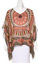 Theodora & Callum Theodora Callum Linen-Blend Printed Tunic