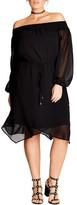 City Chic Plus Size Women's Soft Divine Off The Shoulder Dress