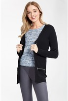 Select Fashion Fashion Womens Black Zip Pocket Cardigan - size 6