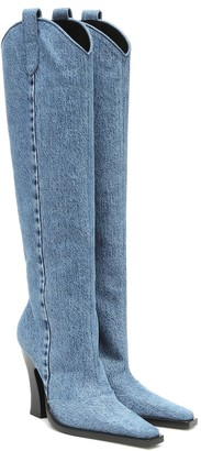 Tom Ford Denim knee-high boots