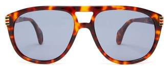 Gucci Aviator Acetate Sunglasses - Mens - Tortoiseshell