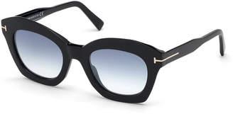 Tom Ford Mirrored Cat-Eye Acetate Sunglasses