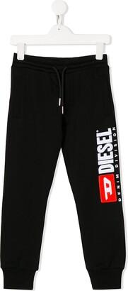 Diesel logo drawstring track trousers