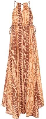 Cult Gaia Agatha printed linen maxi dress