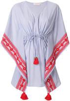 Tory Burch tie waist tassel dress