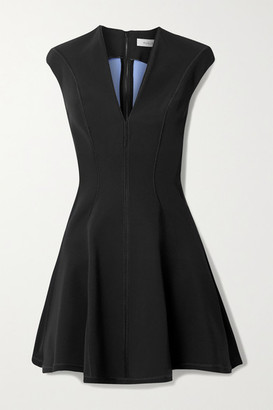 Thierry Mugler Paneled Scuba Mini Dress - Black