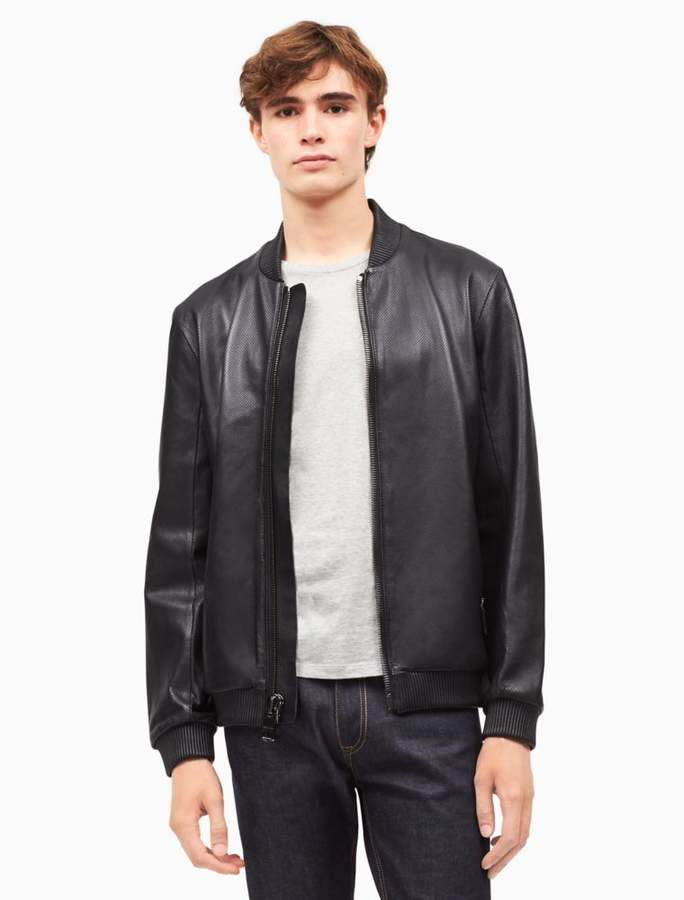 Calvin Klein premium perforated baseball jacket