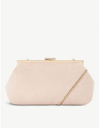 Dune Emellie chain-strap suede clutch bag