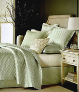 Martha Stewart Trousseau Cirque Seafoam Green Cotton/silk One Standard Sham