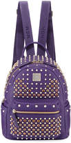MCM Special Stark Embellished Mini Backpack, Purple