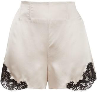 Kiki de Montparnasse Silk And Lace Shorts
