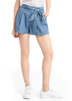 Gap 1969 Paper Bag-Waist Denim Shorts