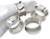 Gold and Watches Set of 4 Silver-plated Beaded Napkin Rings