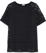 Vince Crocheted Cotton Top