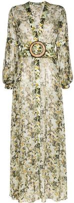 Silvia Tcherassi Farolillo belted floral dress