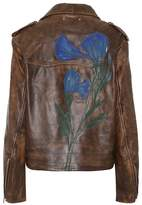 Golden Goose Deluxe Brand Painted leather jacket