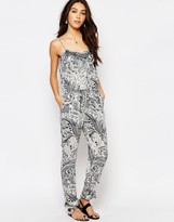 Vila Boho Lace Trim Jumpsuit