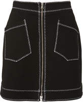 McQ Contrast A-Line Mini Skirt