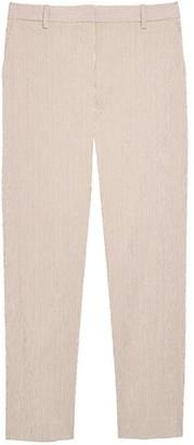 Theory Treeca Seersucker Straight-Leg Ankle Pants