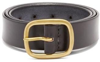 Maximum Henry - Patinated-leather Belt - Mens - Black