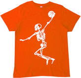 Micro Me Orange Skeleton Slam Dunk Tee - Boys