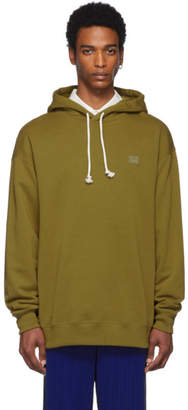 Acne Studios Green Oversized Face Hoodie