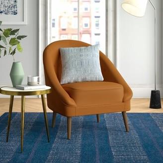 "Danny 20"" Barrel Chair Foundstone Fabric: Emerald Green Velvet Polyester"