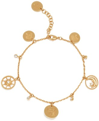 Mulberry Love, Sun and Moon Bracelet Gold and Crystal Brass and Strass