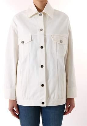 Fendi Denim Jacket Sequins Logo