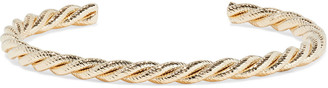 Shashi Twist 18-karat Gold-plated Cuff
