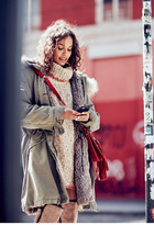 Womens FUR LINED MILITARY PARKA