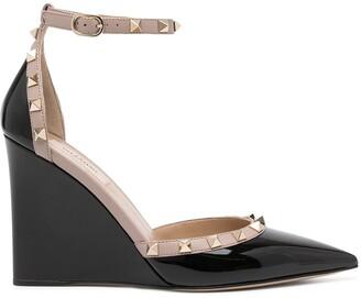 Valentino 100mm Rockstud wedge sandals