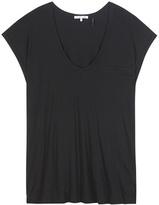 Helmut Lang Cotton-blend Jersey Top