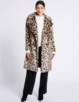 Marks and Spencer Leopard Faux Fur Coat