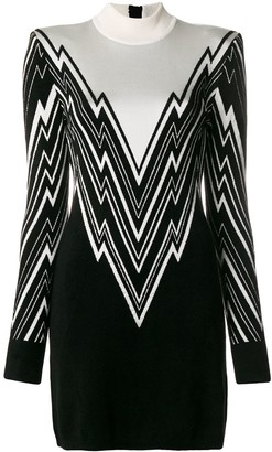 Balmain Roll Neck Dress