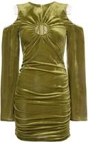 Neith Nyer slashed shoulder velvet dress