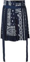 Sacai bandana print pleated skirt - women - Polyester/Cupro - 2