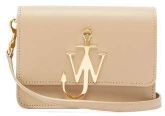 J.W.Anderson Anchor Logo-plaque Mini Leather Cross-body Bag - Womens - Brown