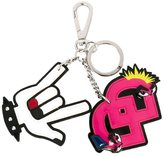 DSQUARED2 'Punk' dual keyring - women - Cotton/Leather/Polyester/Zamak - One Size