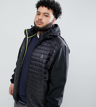 North 56.4 Plus puffer jacket with contrast sleeves-Black