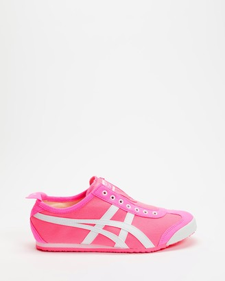 Onitsuka Tiger by Asics Women's Pink Slip-On Sneakers - Mexico 66 Slip-On - Women's - Size 7 at The Iconic