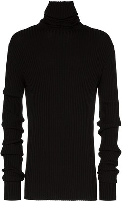 Ann Demeulemeester Exaggerated-Sleeve Ribbed Sweater
