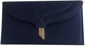 Van Cleef & Arpels Blue Cloth Clutch bags