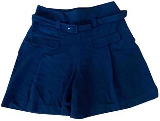 Diane von Furstenberg Black Cloth Shorts